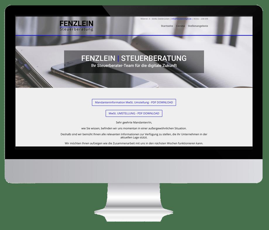 Webdesign Fenzlein Webseite Steuerberater Zweibrücken